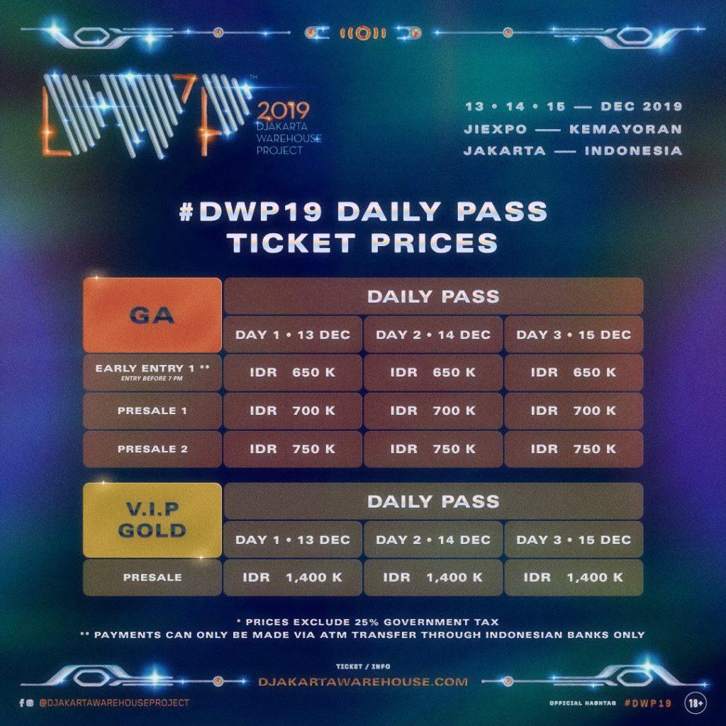 Simak Lineup Dan Harga Tiket Harian Djakarta Warehouse Project Dwp 2019 Boleh Music